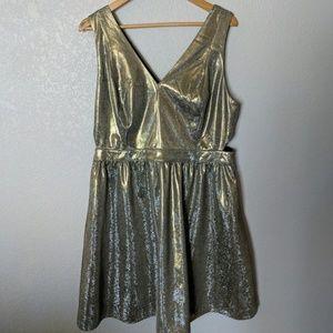 Gold knee length Forever 21 Dress